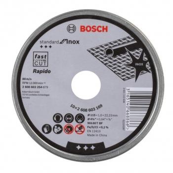 Řezný kotouč Bosch 125x1.0x22.23mm 10 ks v plechovce