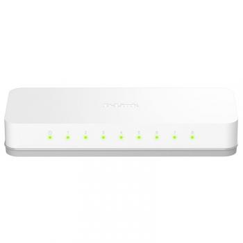 Switch D-Link GO-SW-8E šedý/bílý (8 port, 10/100 Mb/s)