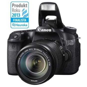 Digitální fotoaparát Canon EOS 70D + EF18-135 IS STM černý