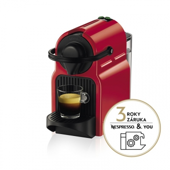 Espresso Krups Nespresso Inissia XN1005 červené + dárek