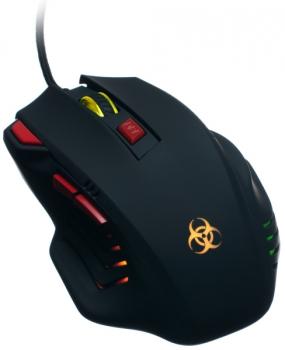Myš Connect IT Biohazard Biohazard černá (/ optická / 7 tlačítek / 3200dpi)