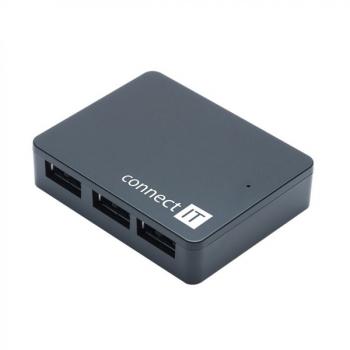 USB Hub Connect IT USB 3.0 / 4x USB 3.0 černý