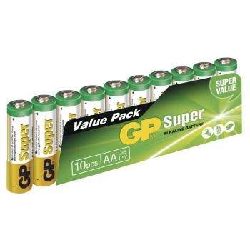 Baterie alkalická GP Super AA, LR06, fólie 10ks