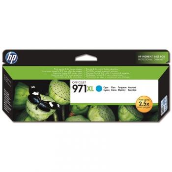 Inkoustová náplň HP 971XL - originální modrá