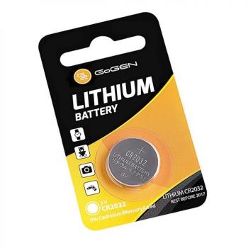 Baterie lithiová GoGEN CR2032, blistr 1ks stříbrná
