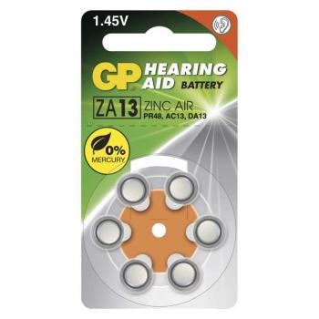 Baterie do naslouchadel GP ZA13, blistr 6ks
