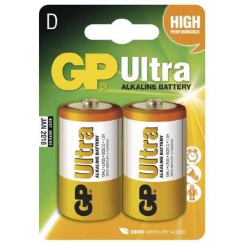 Baterie alkalická GP Ultra D, LR20, blistr 2ks