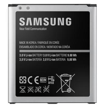 Baterie Samsung pro Galaxy S4 s NFC, Li-Ion 2600mAh (EB-B600BEBE) - bulk černá