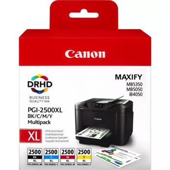 Inkoustová náplň Canon PGI-2500XL, 2500/1295 stran, BK/C/M/Y