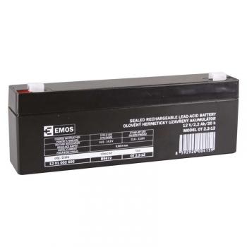 Olověný akumulátor EMOS bezúdržbový 12 V/2,2 Ah, faston 4,7 mm