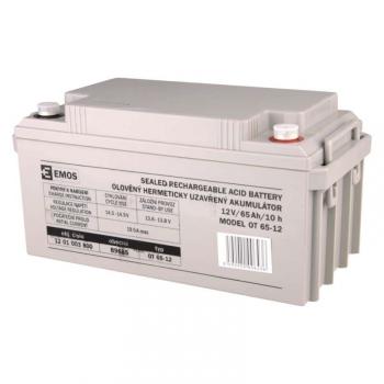 Olověný akumulátor EMOS bezúdržbový 12 V/65 Ah M8