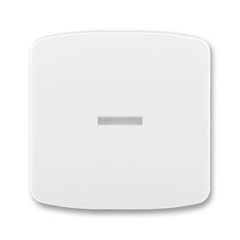 Kryt na vypínač TANGO s průzorem, bílý 3558A-A653B