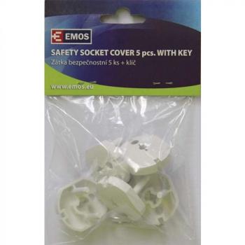 Záslepka do zásuvky bezpečnostní 5ks + 1x klíč
