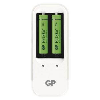 Nabíječka GP PB410 pro AA, AAA + 2x AAA ReCyko+ (850mAh) bílá