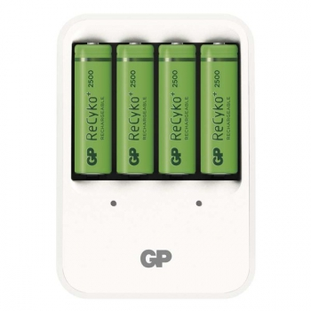 Nabíječka GP PB420 pro AA, AAA + 4x AA ReCyko+ (2500mAh) bílá