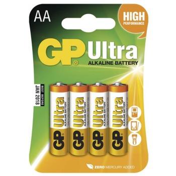 Baterie alkalická GP Ultra AA, LR06, blistr 4ks