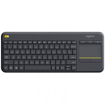 Klávesnice Logitech Wireless Keyboard K400 Plus, CZ/SK černá