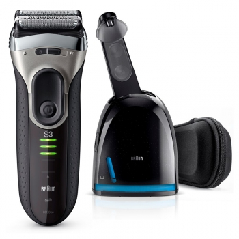Holicí strojek Braun Series 3 Series 3-3090 Clean&Charge černý/šedý