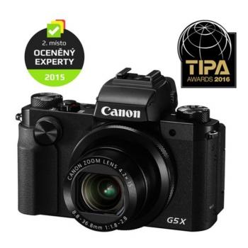 Digitální fotoaparát Canon PowerShot G5 X černý + dárek