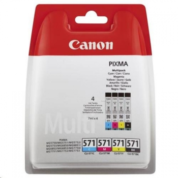 Inkoustová náplň Canon CLI-571 C/M/Y/BK černá/červená/modrá/žlutá