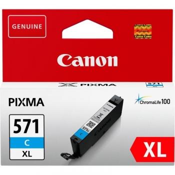 Inkoustová náplň Canon CLI-571XL C modrá
