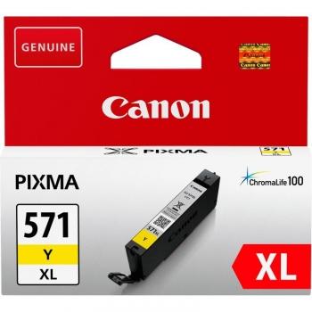 Inkoustová náplň Canon CLI-571XL Y žlutá