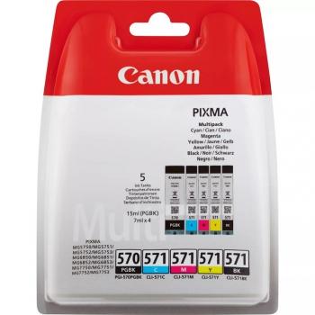 Inkoustová náplň Canon PGI-570/CLI-571 PGBK/C/M/Y/BK MULTI BL