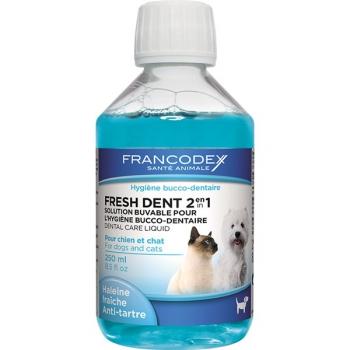 Ústní voda Francodex Fresh Dent pes, kočka 250 ml