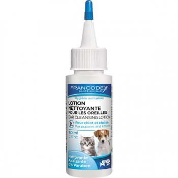 Roztok Francodex čistící na uši štěně, kotě 60 ml