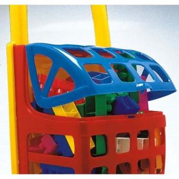Nákupní vozík FRABAR plný kostiček plast