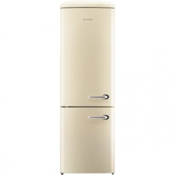 Chladnička s mrazničkou Gorenje Retro ORK192C-L krémová
