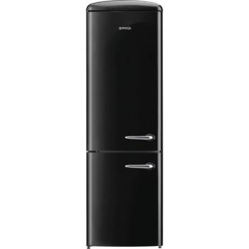 Chladnička s mrazničkou Gorenje Retro ORK192BK-L černá