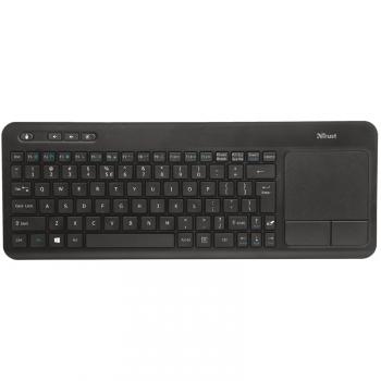 Klávesnice Trust Veza Wireless Touchpad CZ/SK černá