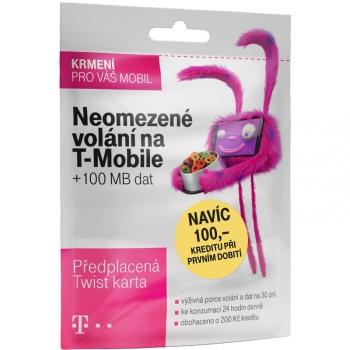 SIM karta T-Mobile SIM s kreditem T-mobile Twist V síti 200 Kč kredit - hlasové volání