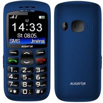 Mobilní telefon Aligator A670 Senior modrý