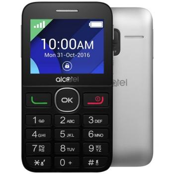Mobilní telefon ALCATEL 2008G černý/stříbrný