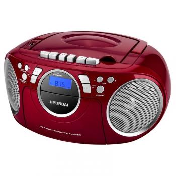 Radiomagnetofon s CD Hyundai TRC 788 AU3RS stříbrný/červený
