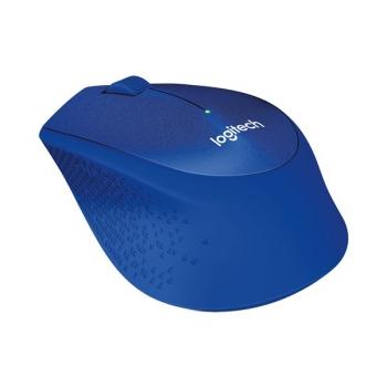 Myš Logitech Wireless Mouse M330 Silent Plus modrá (/ optická / 3 tlačítka / 1000dpi)