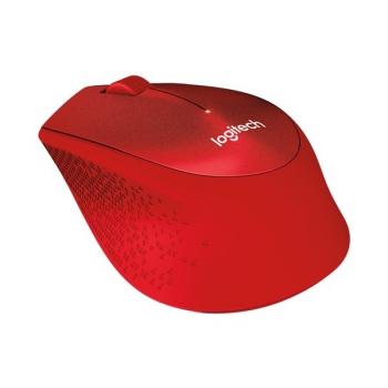Myš Logitech Wireless Mouse M330 Silent Plus červená (/ optická / 3 tlačítka / 1000dpi)