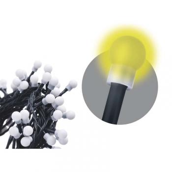 Vánoční osvětlení EMOS 80 LED, kulička, 8m, řetěz, teplá bílá, časovač,  i venkovní použití