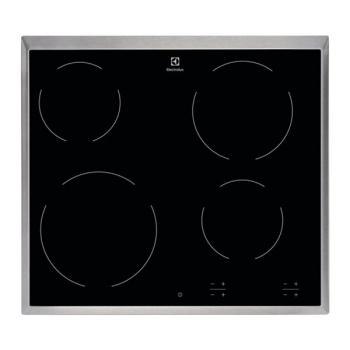 Sklokeramická varná deska Electrolux Inspiration EHF6240XXK černá/nerez
