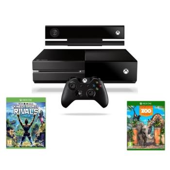 Herní konzole Microsoft Xbox One 500 GB + Kinect + Sports Rivals + Zoo Tycoon černá