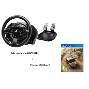 volant thrustmaster t300 rs rally pack ped ly hra s bastien loeb rally pro ps3 ps4 a pc. Black Bedroom Furniture Sets. Home Design Ideas