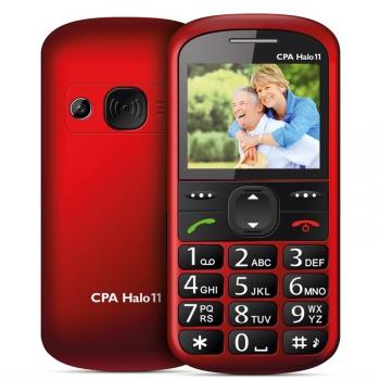 Mobilní telefon CPA Halo 11 Senior červený