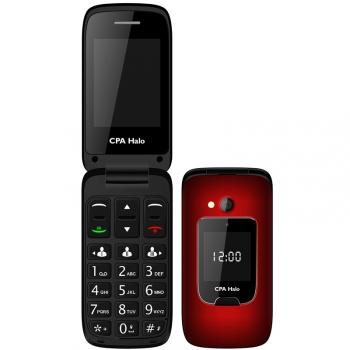 Mobilní telefon CPA Halo 15 Senior červený
