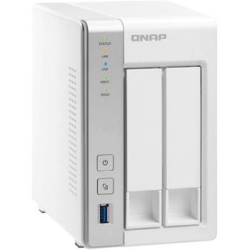 Datové uložiště (NAS) QNAP TS-231P bílá (2xHDD, CPU 1,7GHz, 1GB, 2xGb/s, 3xUSB 3.0)