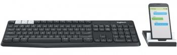 Klávesnice Logitech Wireless K375s, CZ + stojan na mobil/tablet černá