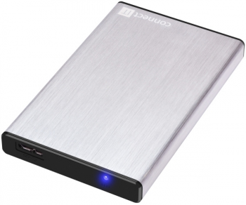 "Box na HDD Connect IT CI-1045, 2,5"" SATA, USB 3.0 stříbrný"