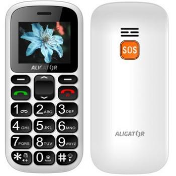 Mobilní telefon Aligator A321 Senior Dual SIM bílý