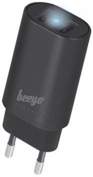 Nabíječka do sítě Beeyo 2x USB, 3,4A černý